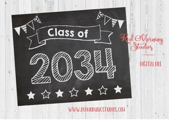 Class of 2034 sign - PRINTABLE