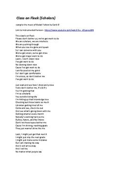 Class on Fleek (Scholars) - Song for Class Spirit Test Time Motivation