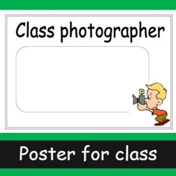 Class photographer poster