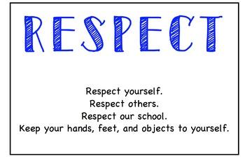 Class rules- REACH for success *editable*