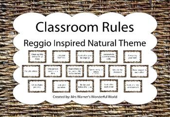 Class rules - Reggio Inspired - Natural wicker