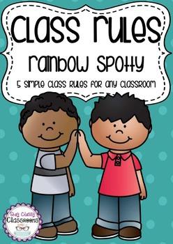 Class rules - rainbow spotty