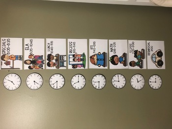 Class schedule with clocks!