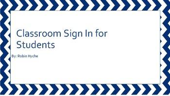 Class sign in sheet