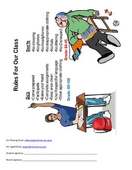 Class structure and rules lesson and worksheet