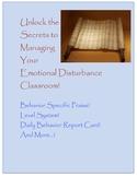 Class-wide Behavior Plan For Emotional Disturbance Classrooms