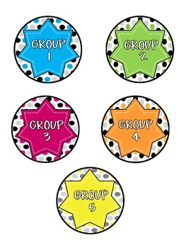 ClassDECOR-Group Supplies Labels-Bold PolkaDots