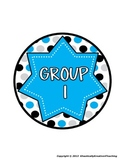 ClassDECOR-Group Table Labels-Bold PolkaDots