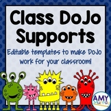 Class Dojo Supports for Behavior Management (editable!)