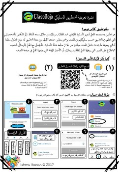 ClassDojo for parents ~ Freebie in English and Arabic