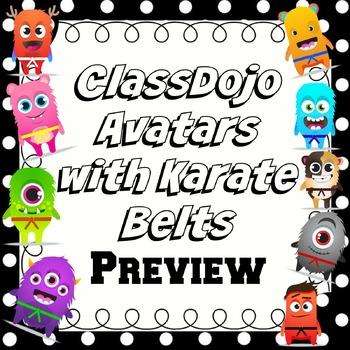 ClassDojo Avatars with Karate Belts