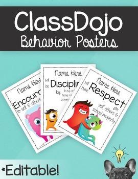 ClassDojo Behavior Posters
