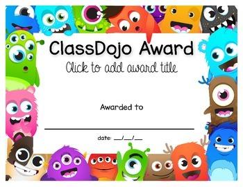 ClassDojo Certificate