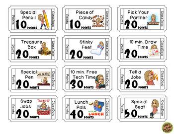 ClassDojo Credit Cards/Reward Tickets (Editable)