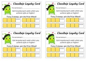 ClassDojo Loyalty/Punch Card for Rewards (pdf)