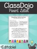ClassDojo Parent Letter