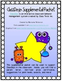 ClassDojo Supplemental Packet for Classroom Behavior Management