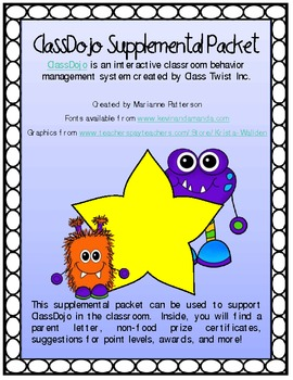 ClassDojo Supplemental Packet for Classroom Behavior Management