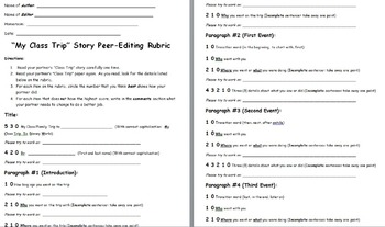 class field trip essay peer editing rubric by bethany holley tpt class field trip essay peer editing rubric