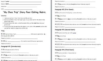 Class/Field Trip Essay Peer-Editing Rubric
