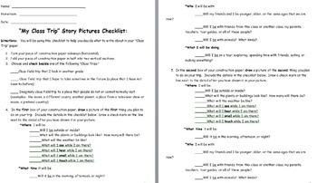Class/Field Trip Essay Picture Checklist