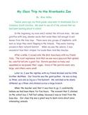 Class/Field Trip Example Essay Teacher Modeling Tool