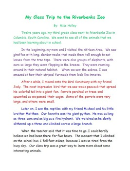 essay about field trips Field trip assignment, beanetics coffee roadsters 02/28/2015 it  was always nice to go on field trip from school because many student learn.