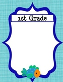 Class/Grade Level Groupings Fish Themed - Customizable