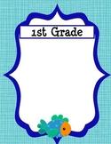 Class/Grade Level Groupings Fish Themed - Customizable