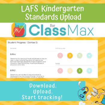 ClassMax Instructional Tracking - LAFS Standards Upload (Kindergarten)