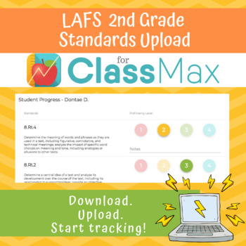 ClassMax Instructional Tracking - LAFS Standards Upload (Second Grade)