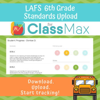 ClassMax Instructional Tracking - LAFS Standards Upload (Sixth Grade)