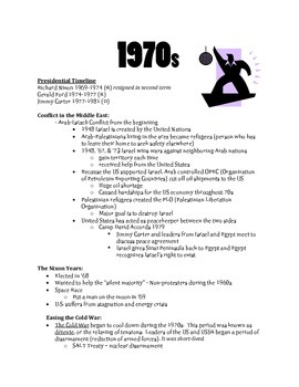 ClassNotes: 70s, 80s, 90s, 00s, U.S. at the Turn of the Century