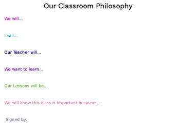 ClassRoom Philosophy Activity