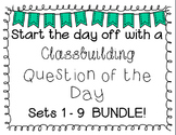 {Classbuilding} Question of the Day BUNDLE