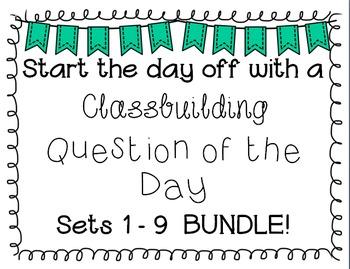 {Classbuilding} Question of the Day BUNDLE