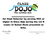 Classdojo Award