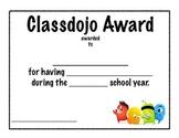 Classdojo Student Award