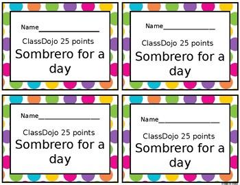 Classdojo reward coupons for middle/high school