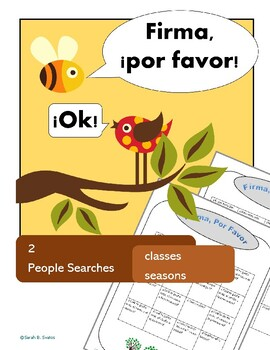 Classes & Seasons, Beginner's Vocabulary: 2 Spanish Communicative Activities