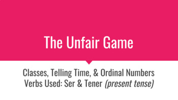"""Classes and Telling Time in Spanish """"Unfair"""" Game Review"""