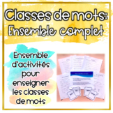 Classes de mots - ***BUNDLE***