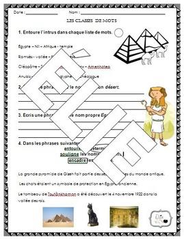 Classes de mots (nom, déterminant et adjectif)