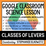Classes of Levers Google Classroom Lesson