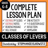 Classes of Levers Lesson - Distance Learning Ready