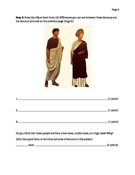 Classes of Rome Identify Differences Worksheet