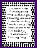Class rules printable