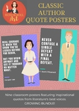 Classic Authors Quote Posters - Printable Classroom Decoration