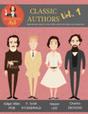 Classic Authors Vol. 1 clipart (Poe, Fitzgerald, Lee, Dickens)