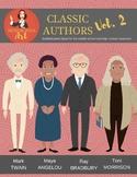 Classic Authors Vol. 2 clipart (Twain, Angelou, Bradbury, Morrison)
